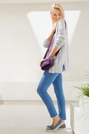 Tchibo Mürdüm Rengi Organik Pamuklu Bluz