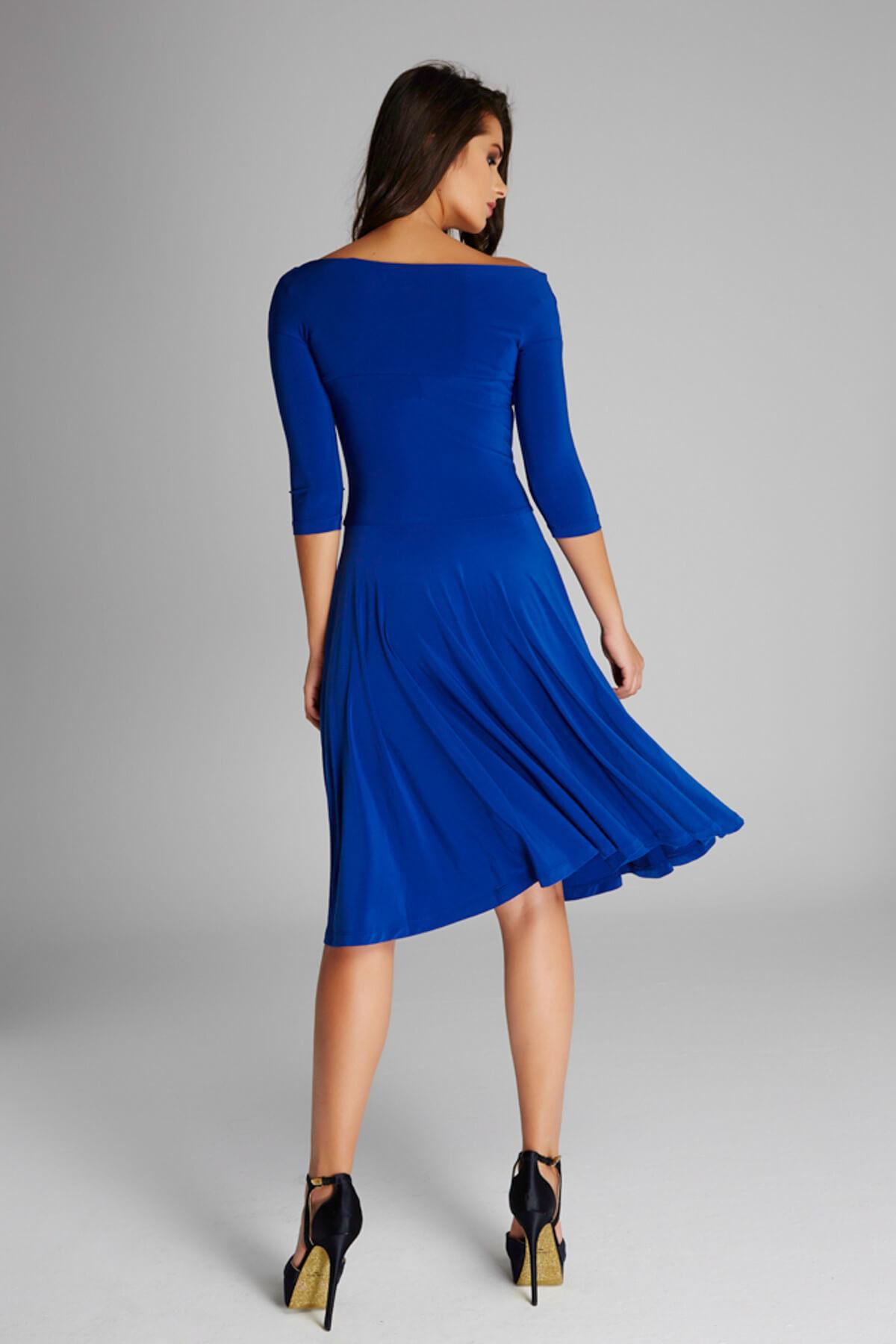 Laranor Kadın Saks Omuz Dekolteli Elbise 13K020-L 2