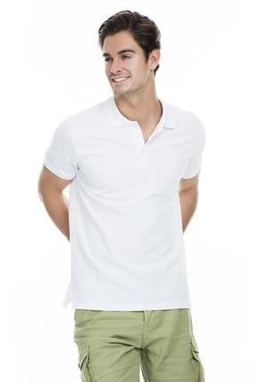 Sabri Özel Erkek Beyaz Polo Yaka T-Shirt - T446688