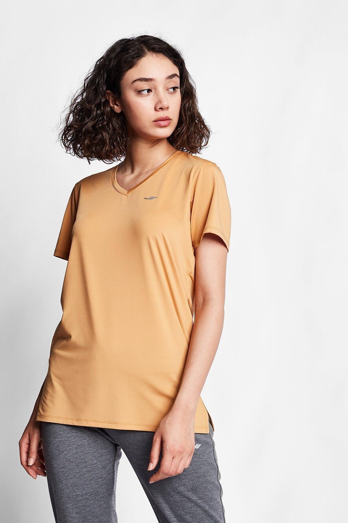 Lescon Karamel Kadın Kısa Kol T-shirt 20s-2208 1