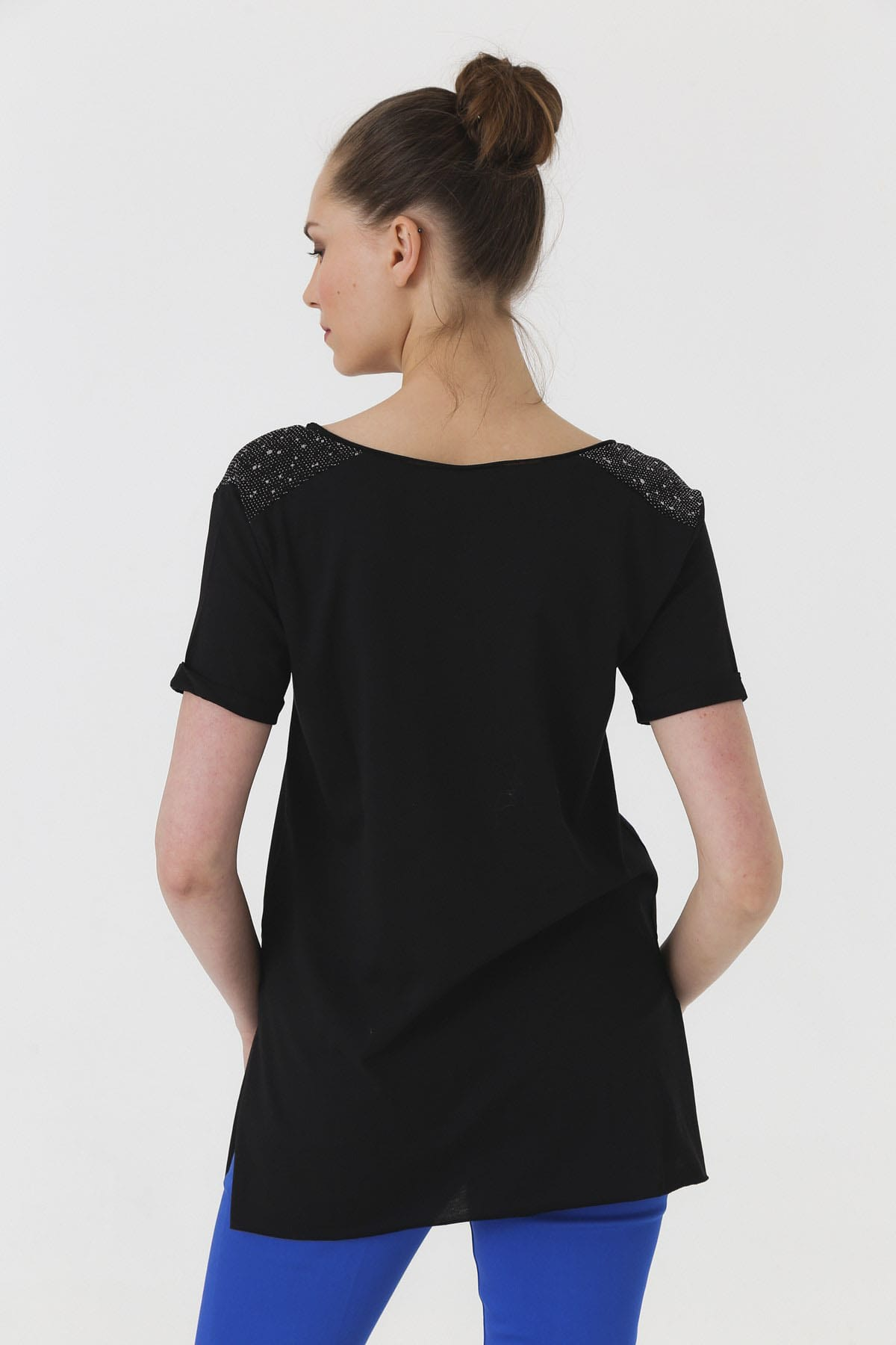 Jument Kadın Siyah T-shirt 7090 2