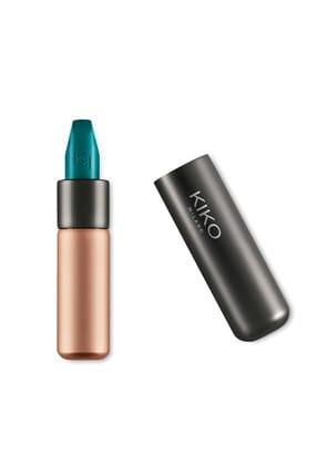 KIKO Saten Mat Ruj - Velvet Passion Matte Lipstick 322 Sapphire Green 8025272631921