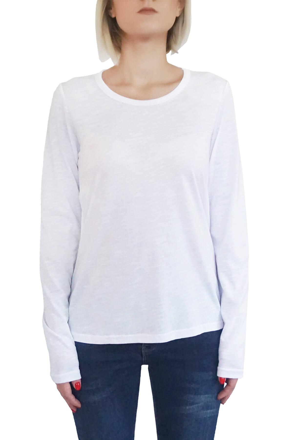 MOF Kadın Beyaz T-Shirt UKSYT-B 1