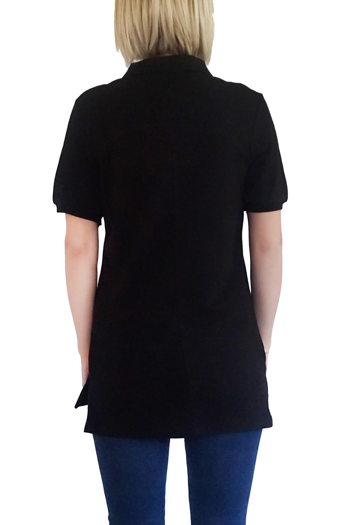 MOF Kadın Siyah T-Shirt POLO-F-S 2