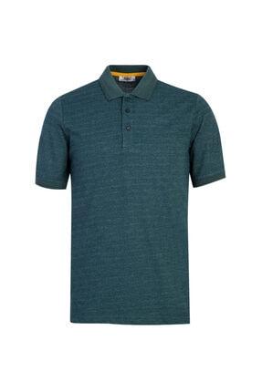 Kiğılı Polo Yaka Desenli Regular Fit Tişört