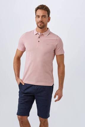 Hemington Erkek Pembe Polo Yaka T-shirt