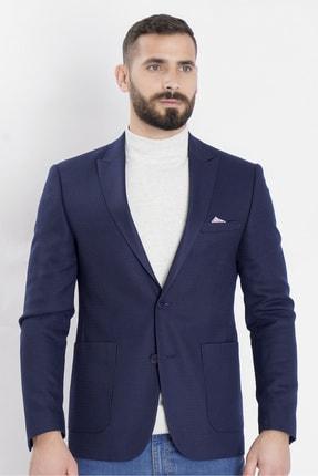 COMİENZO Erkek Lacivert 2 Düğme Tek Yırtmaç Yaka Ceket