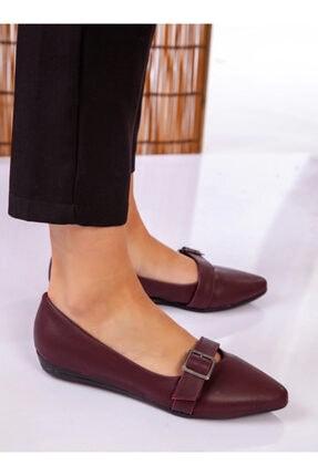 ayakkabıhavuzu Kadın Bordo Cilt Günlük Ayakkabı