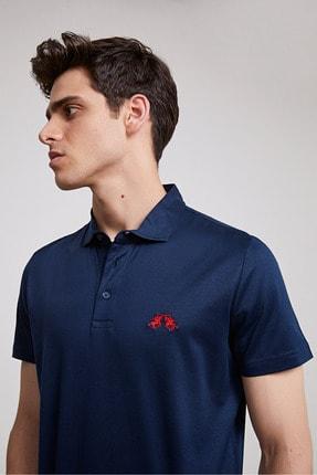 D'S Damat Erkek Lacivert Regular Fit Polo Yaka T-shirt