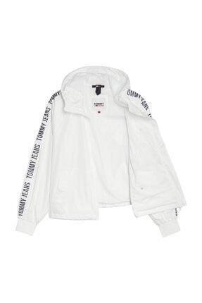 Tommy Hilfiger Kadın Beyaz Ceket Tjw Tape Sleeve Wındbreaker DW0DW09929