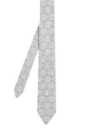 Hemington Erkek Desenli Açık Gri Örgü Kravat