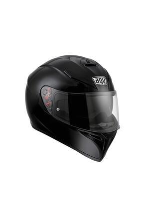 AGV K3 Sv Solıd Black Kapalı Motosiklet Kaskı + Pinlock Dahil