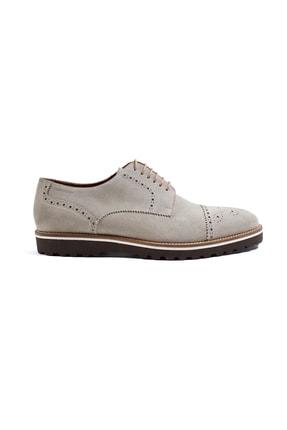 Hemington Erkek  El Yapımı Bej Yazlık Süet Deri Ayakkabı