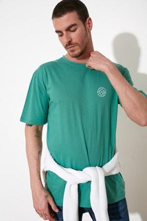 TRENDYOL MAN Yeşil Erkek  T-Shirt TMNSS20TS0277