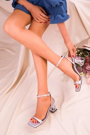 SOHO Gri Saten Kadın Klasik Topuklu Ayakkabı 15916