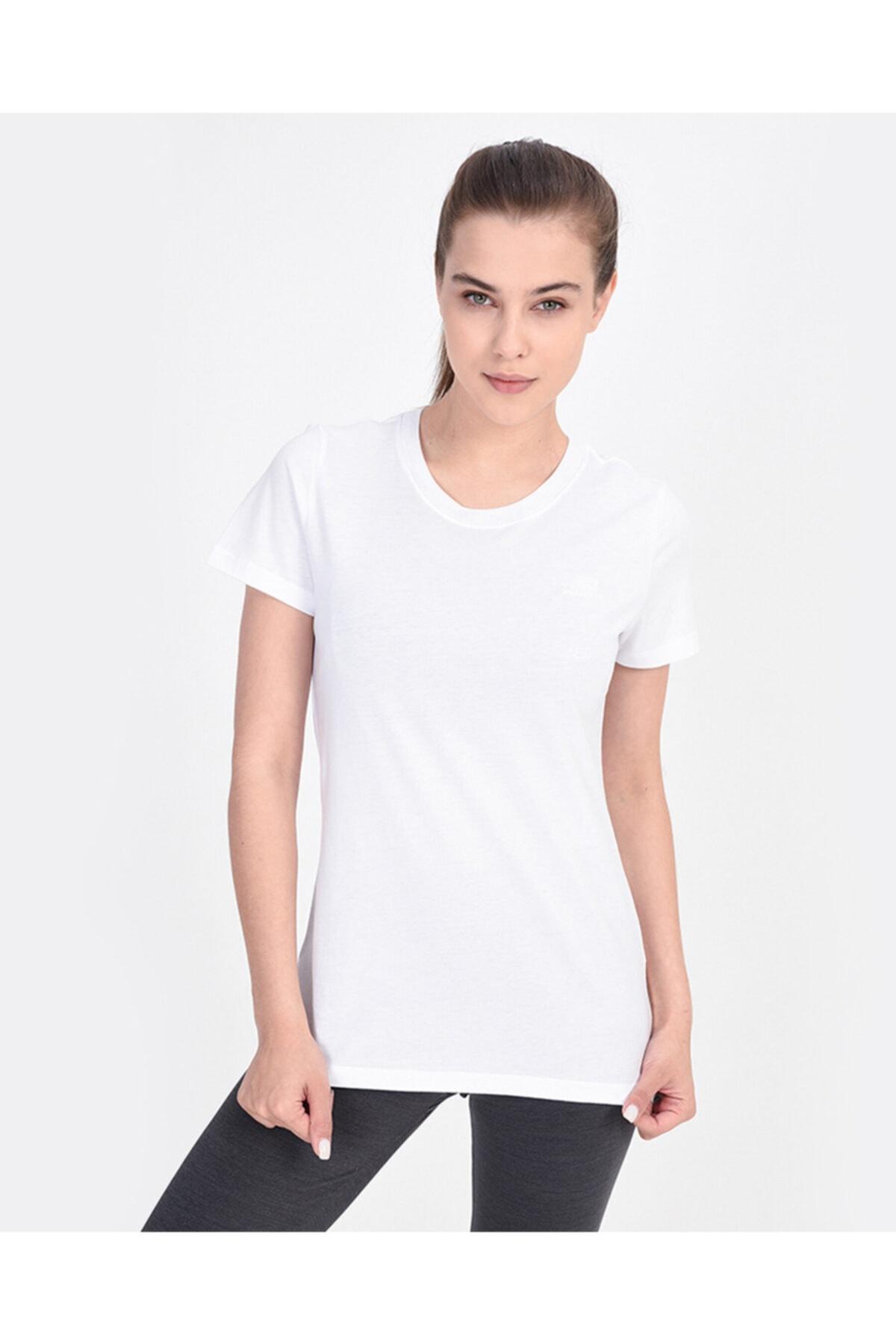 SKECHERS Graphic Tee's W Core Logo Kadın Beyaz Tshirt 1