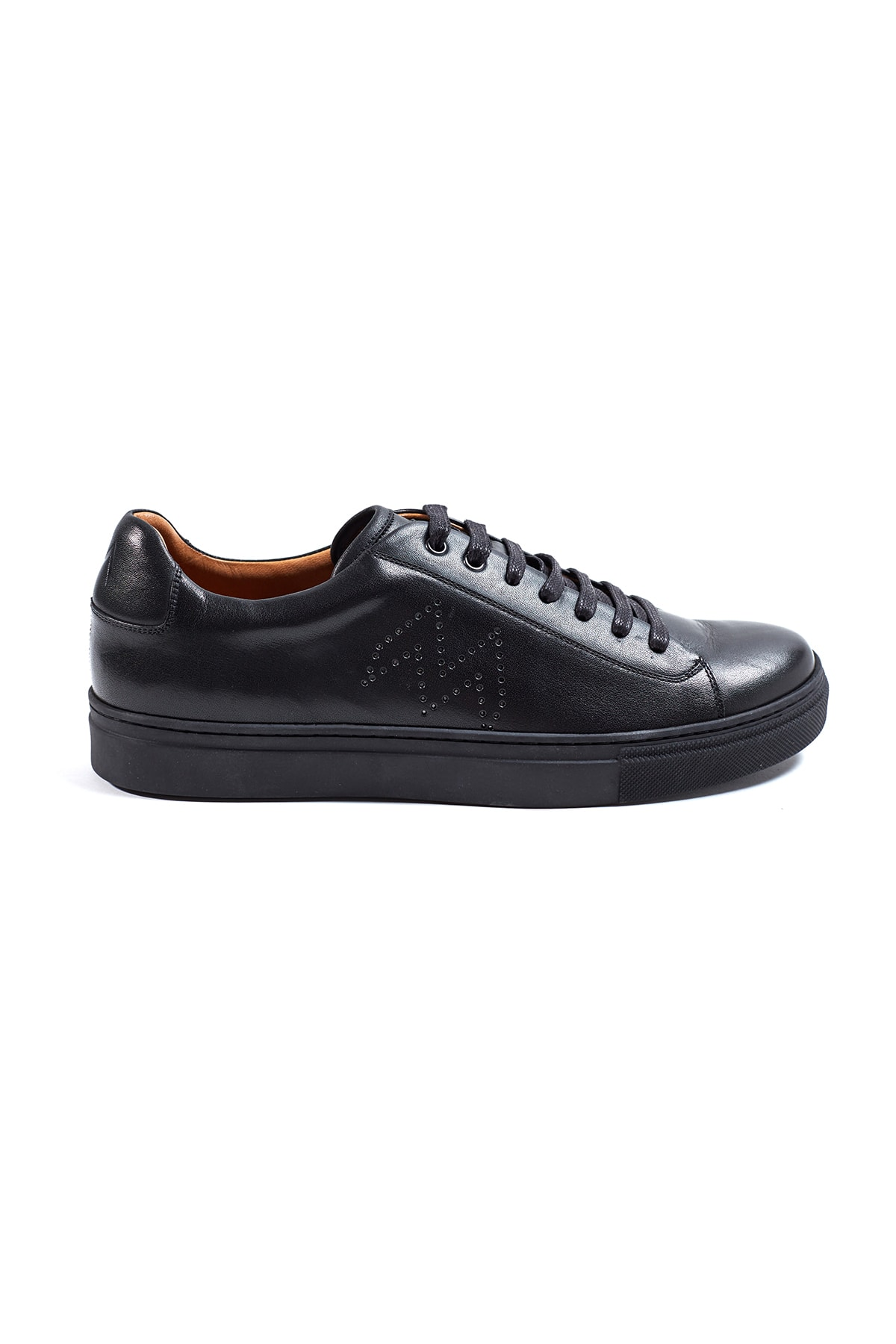 Hemington Siyah El Yapımı Deri Sneakers 1