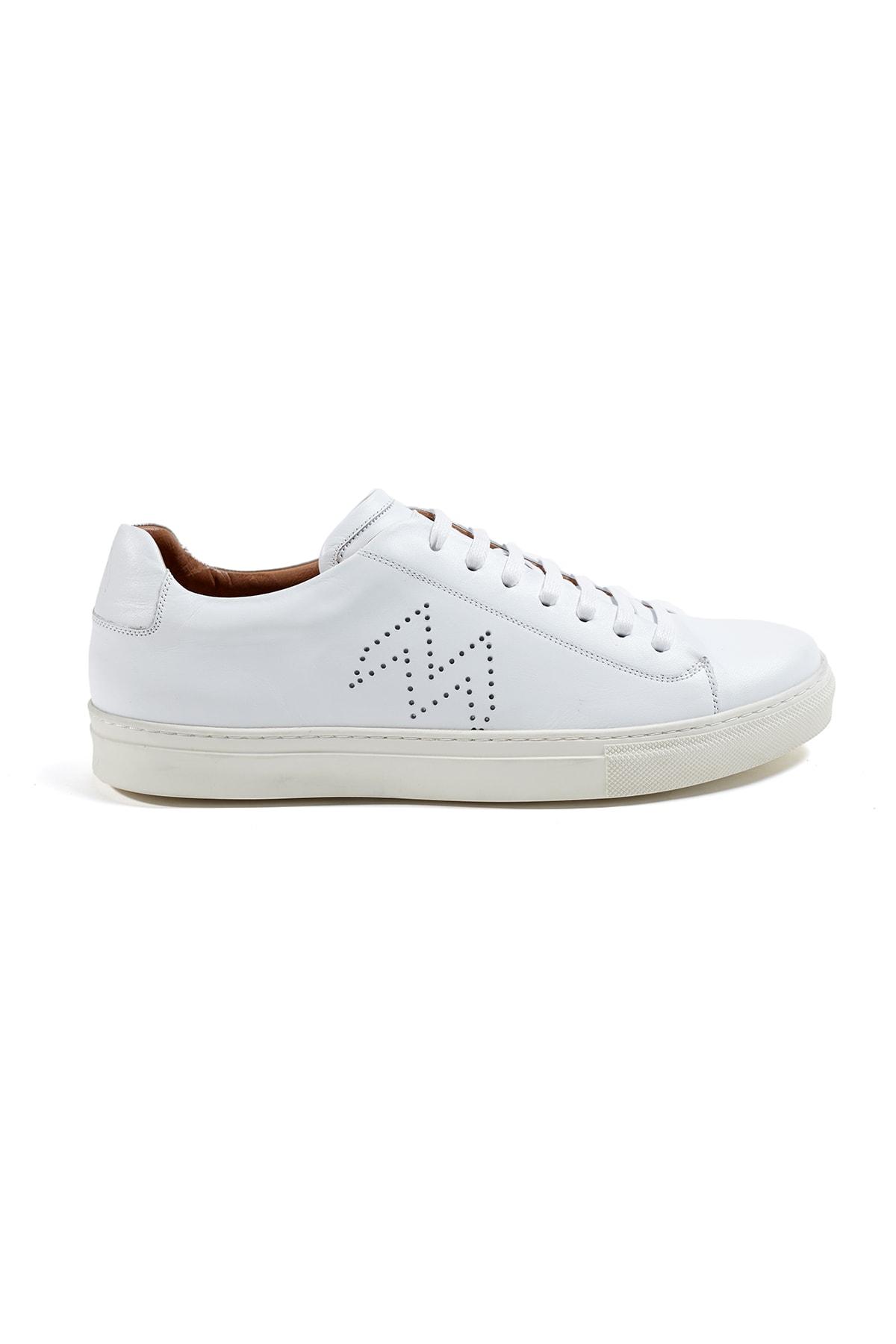 Hemington Erkek  Beyaz El Yapımı Deri Sneakers 1