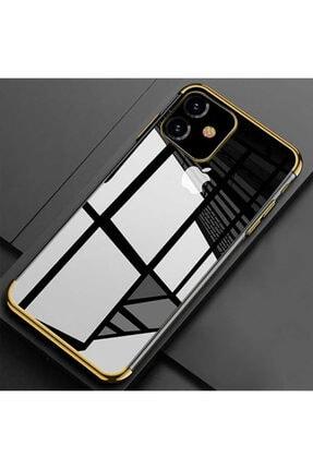 İncisoft Iphone 11 Uyumlu Şeffaf Köşeleri Renkli Silikon Kılıf