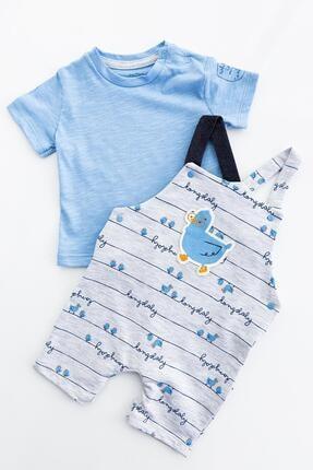 Babymod Erkek Bebek Tulum Salopet Takım