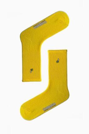 CARNAVAL SOCKS Unisex Sarı Muz Nakışlı Spor Çorap