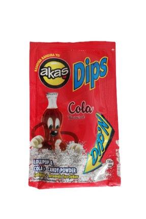 akas Kola Aromalı Toz Şekerli Dips Lolipop Paket 36 Adet