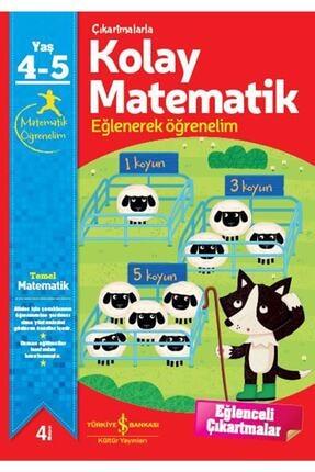 İş Bankası Kültür Yayınları Çıkartmalarla Kolay Matematik 4-5 Yaş