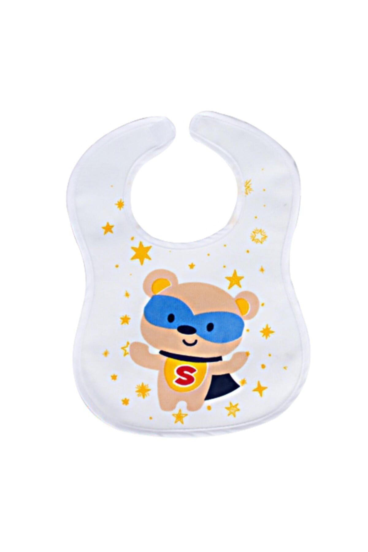 Sevi Bebe Cırtlı Havlu Mama Önlüğü Art-17 Süper Ayı 1