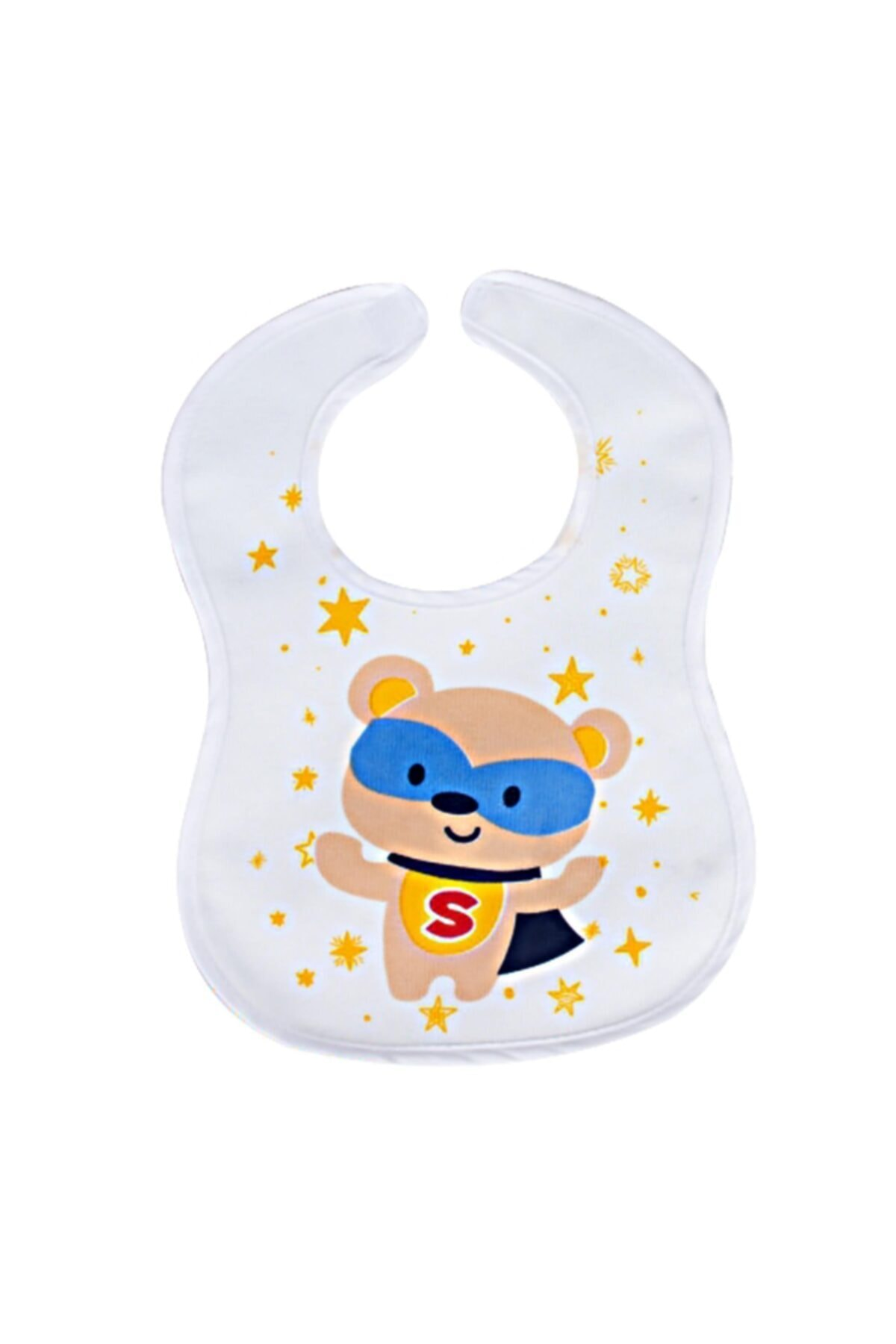 Sevi Bebe Cırtlı Havlu Mama Önlüğü Art-17 Süper Ayı 2