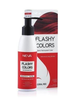 Flashy Colors Yarı Kalıcı Saç Boyası - Mercan Kırmızı 100 ml