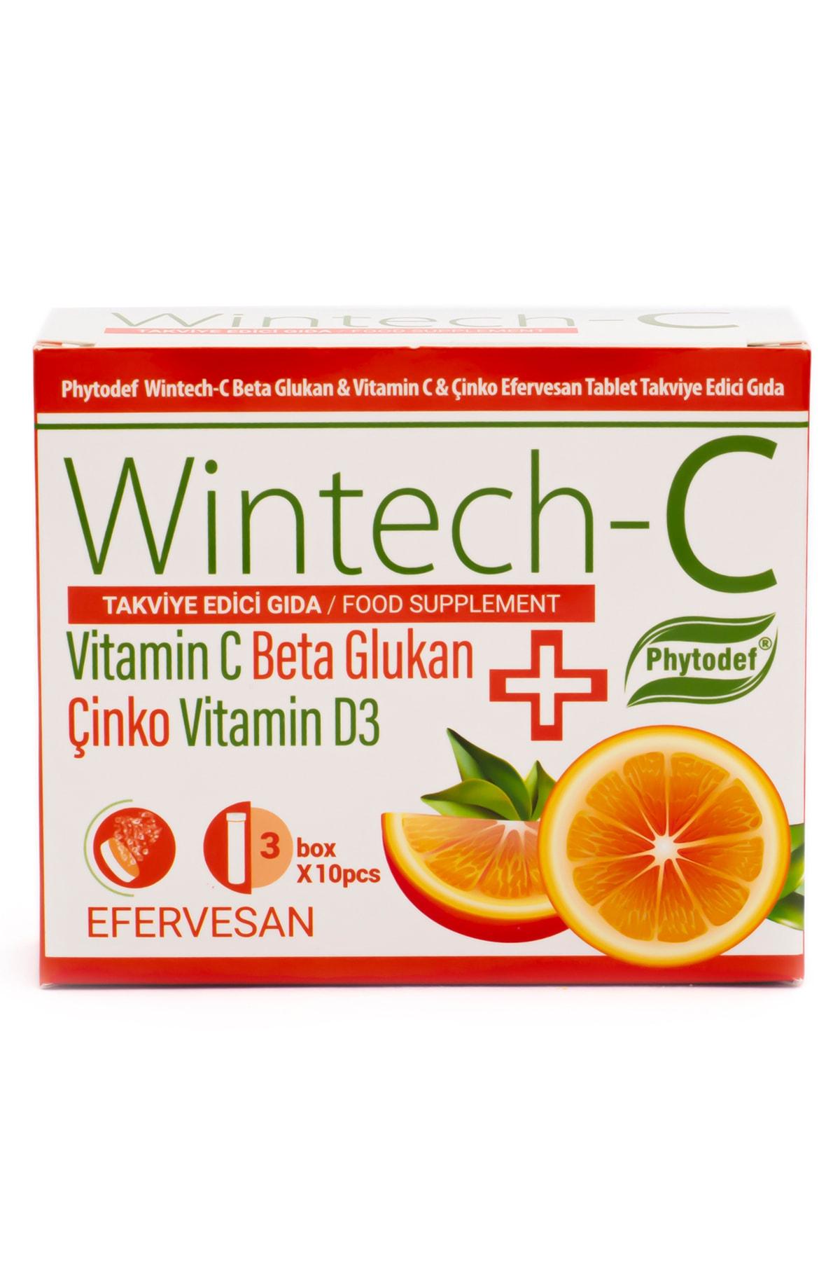 Phytodef Wintech C Beta Glukan Vitamin C  Çinko 30 Efervesan Tablet 2