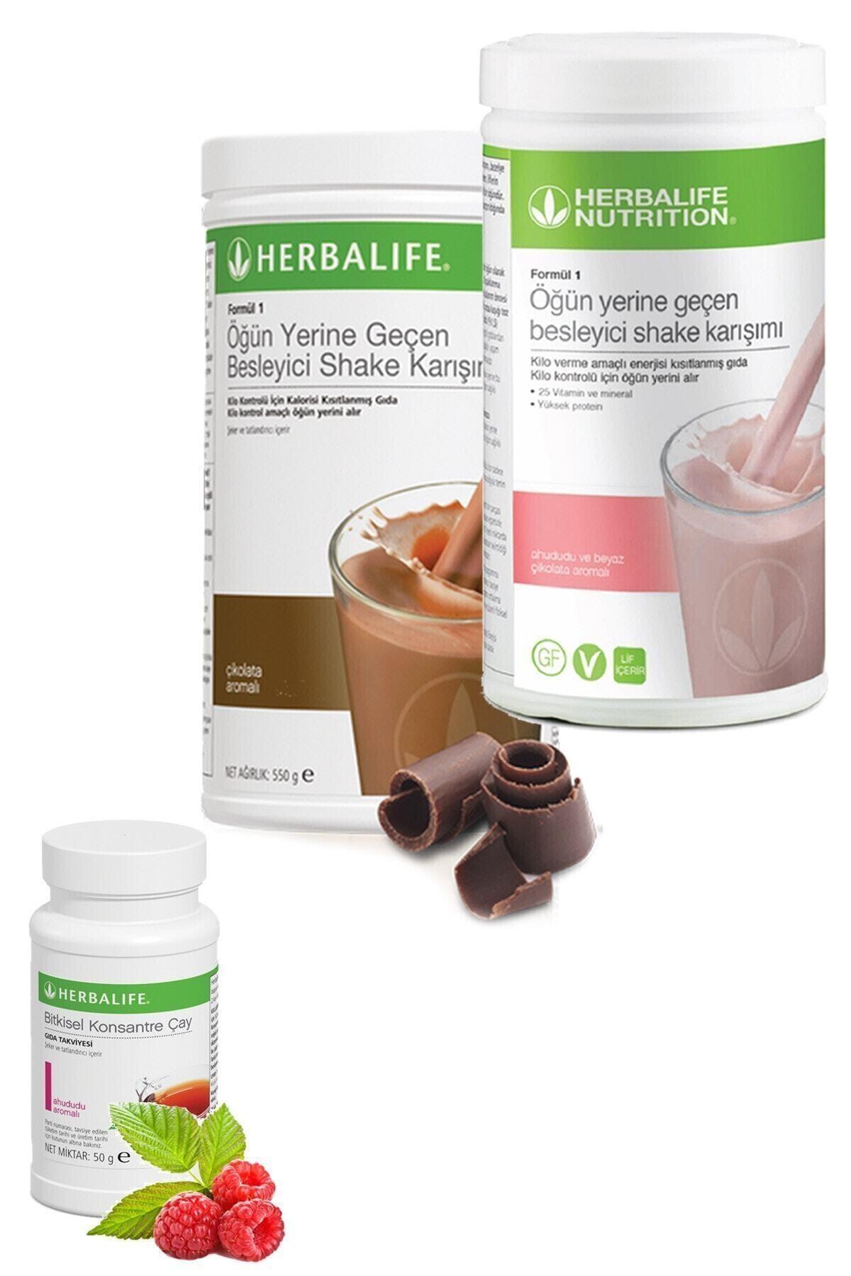 Herbalife Set 1 Adet Çikolatalı Shake 1 Adet Ahudululu Shake Ve 1 Adet Ahududulu Çay 50gr 1