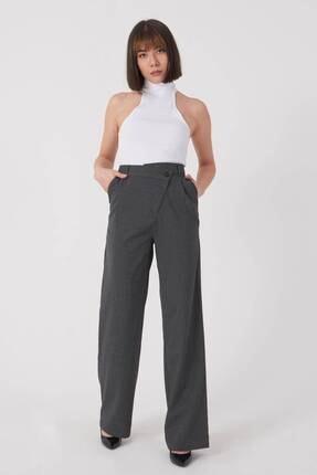 Addax Kadın Füme Bol Paça Pantolon Pn8103 - W6 Adx-0000023578