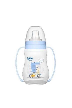 Wee Baby Erkek Bebek Akıtmaz Kulplu Pp Alıştırma Bardağı (Anti-colic)-754