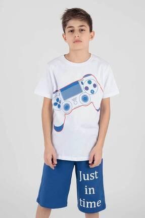 Ahenk Kids Ak220298 Erkek Çocuk Joystic Baskılı Şortlu Takım