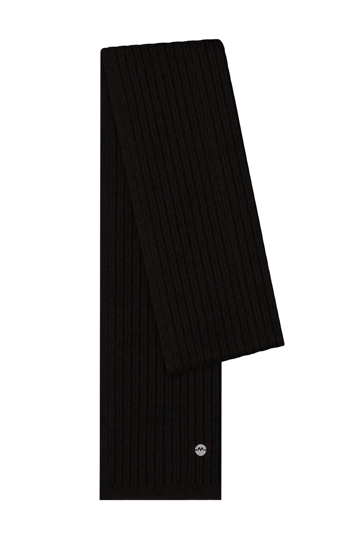 Hemington Erkek Siyah Yün Atkı 1