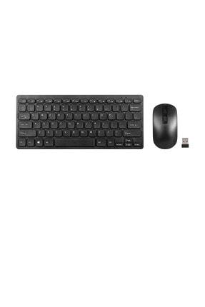 TahTicMer Siyah Samsung Galaxy Tab A7 T500 T505 Kablosuz Wireless Taşınabilir Q Klavye Mouse Set
