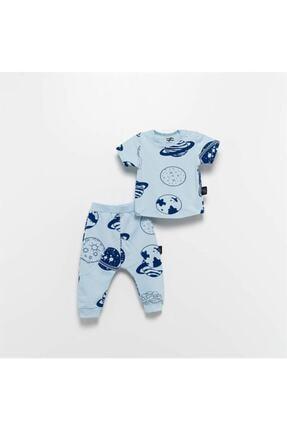 Moi Noi Moinoi Desenli Mavi Bebek Çocuk Takımı
