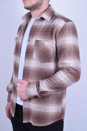 Ottomoda Erkek Kahverengi Oduncu Gömlek