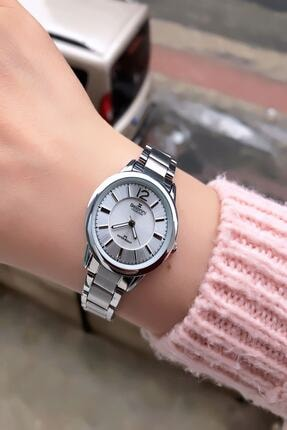 Belonni Kadın Gümüş Renk Çelik Kol Saati