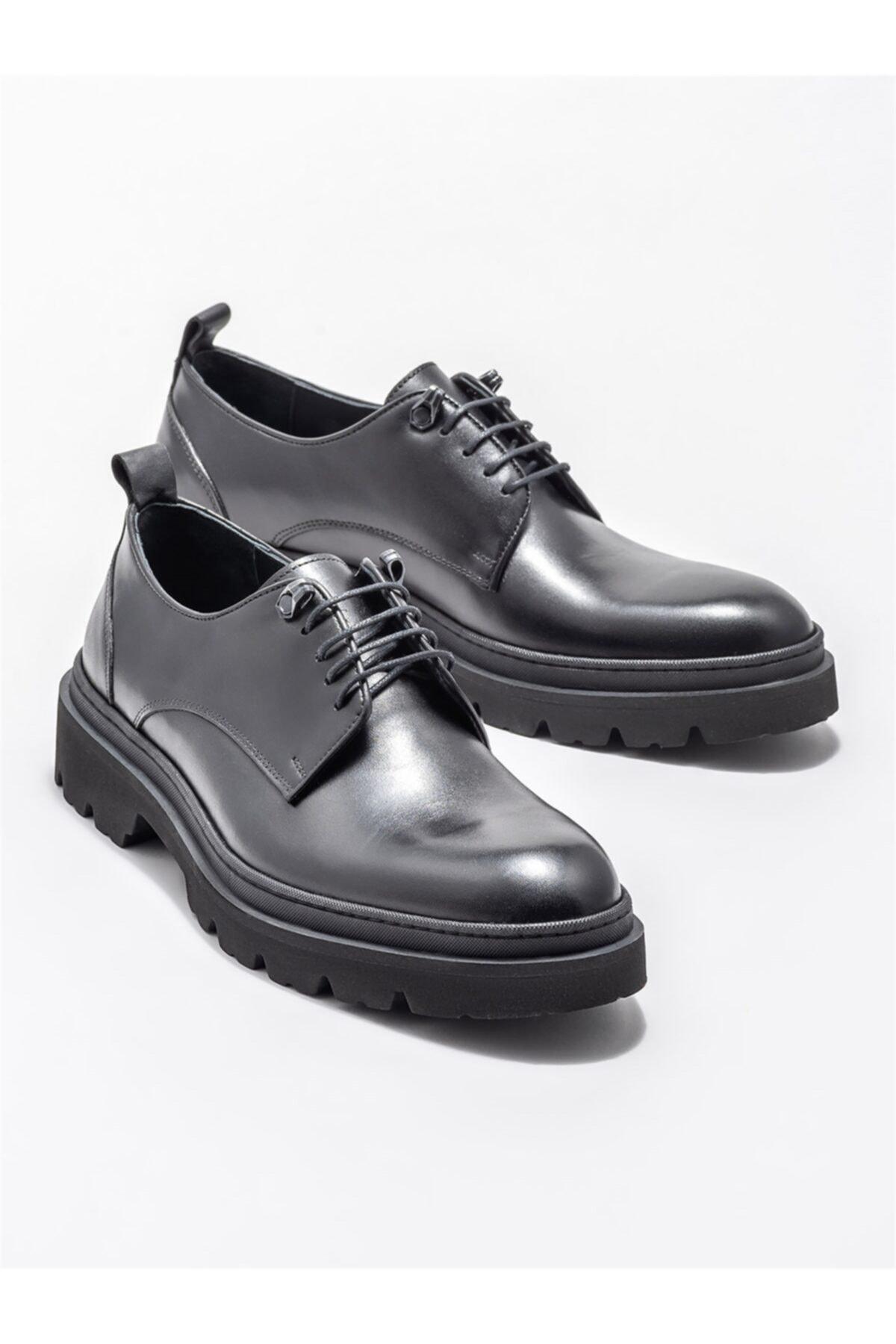 Elle Shoes Siyah Deri Erkek Günlük Ayakkabı 2
