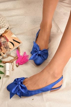 Fox Shoes Kadın Saks Mavi Kumaş Babet H726809004