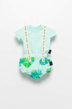 Moi Noi Unisex Bebek Yeşil Askılı Takım