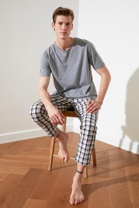 TRENDYOL MAN Ekoseli Dokuma Pijama Takımı THMSS21PT0250