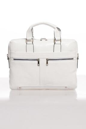 Sergio Giorgianni Luxury Mpist9141 Kroko Beyaz Unısex Evrak Çantası