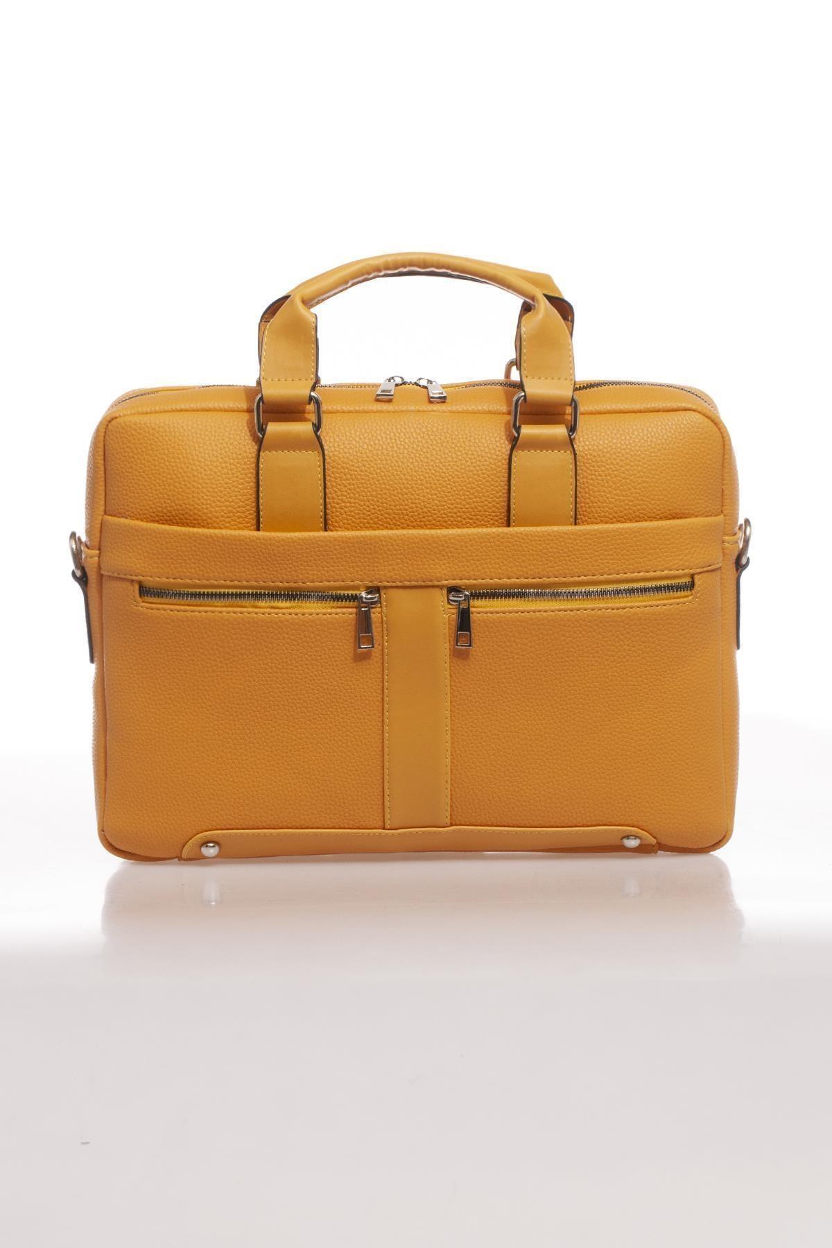 Sergio Giorgianni Luxury Mpist9141 Belinda Sarı Unısex Evrak Çantası 1