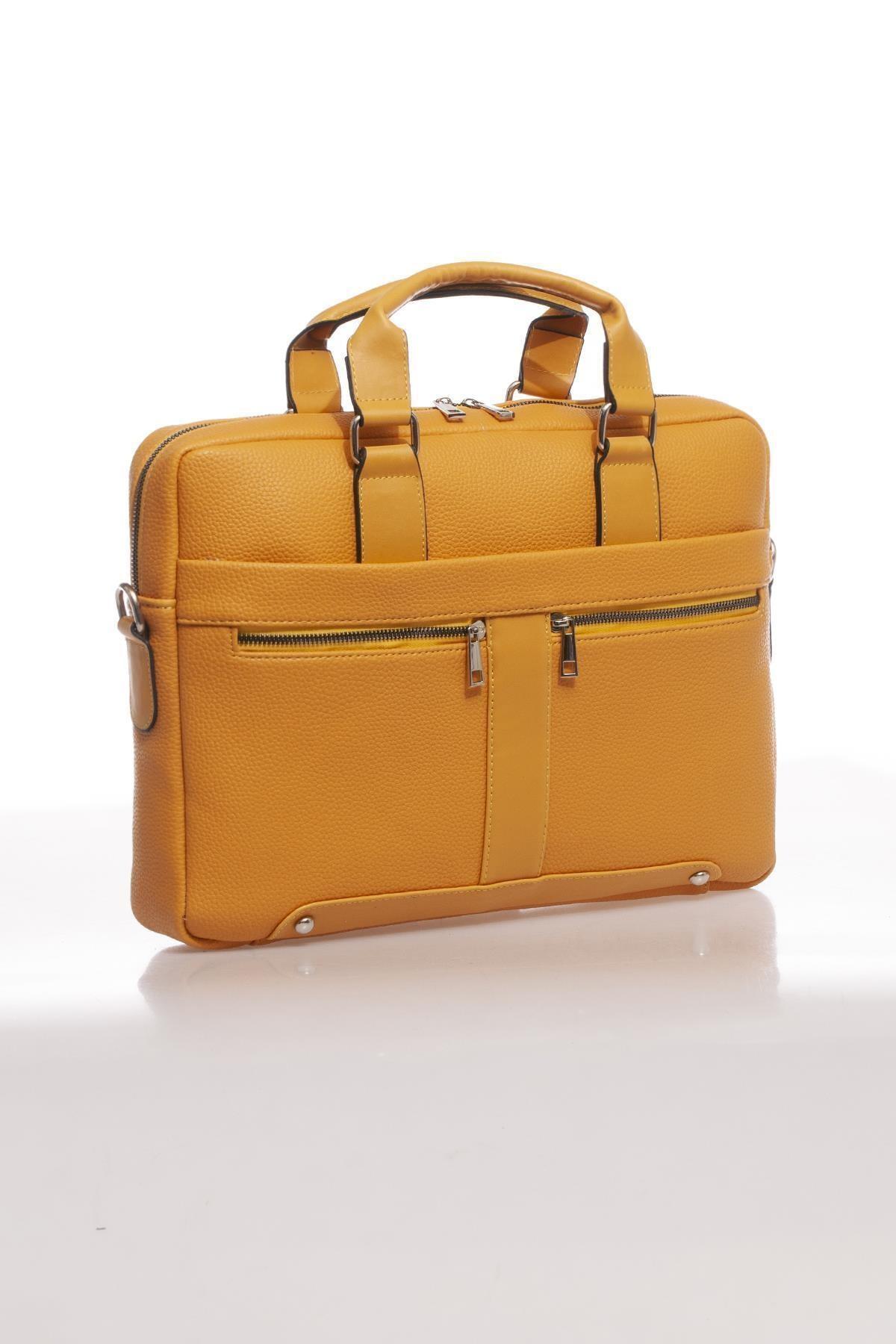 Sergio Giorgianni Luxury Mpist9141 Belinda Sarı Unısex Evrak Çantası 2