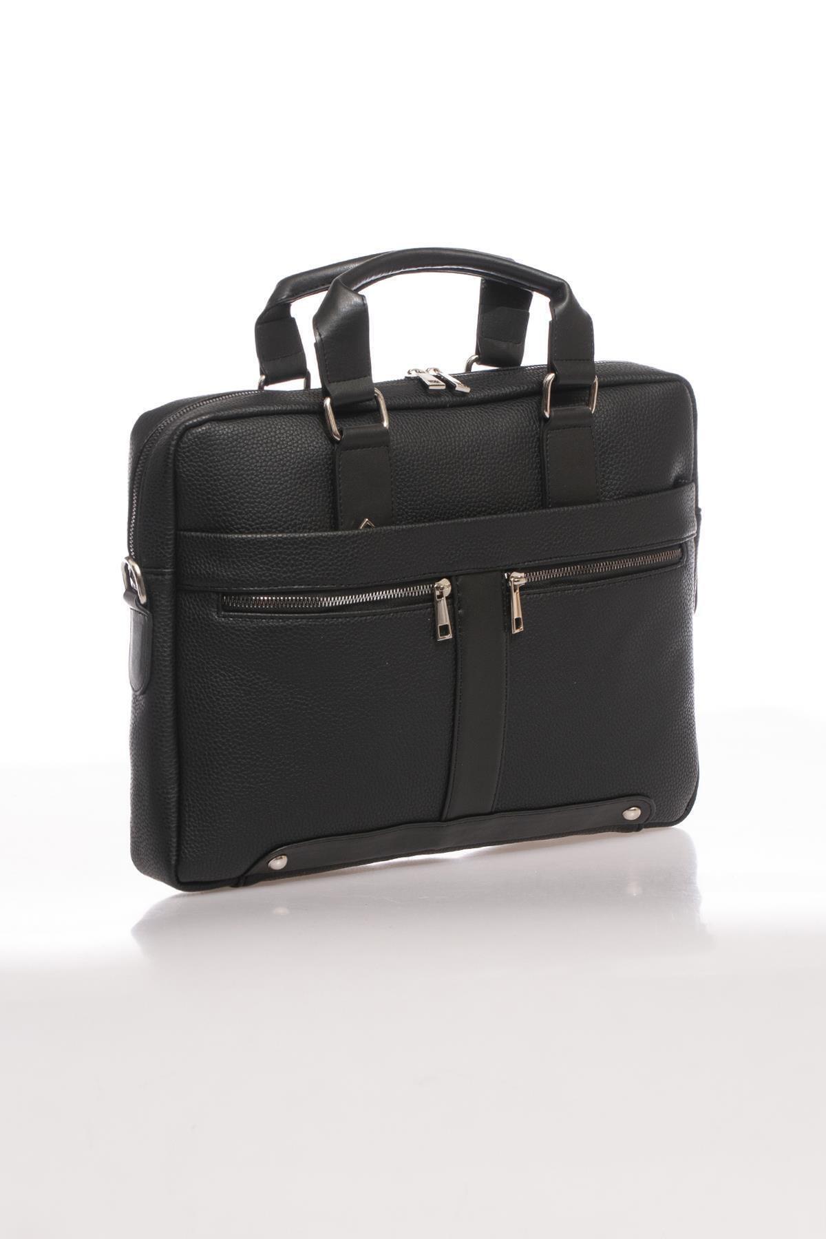 Sergio Giorgianni Luxury Mpist9141 Belinda Siyah Unısex Evrak Çantası 2