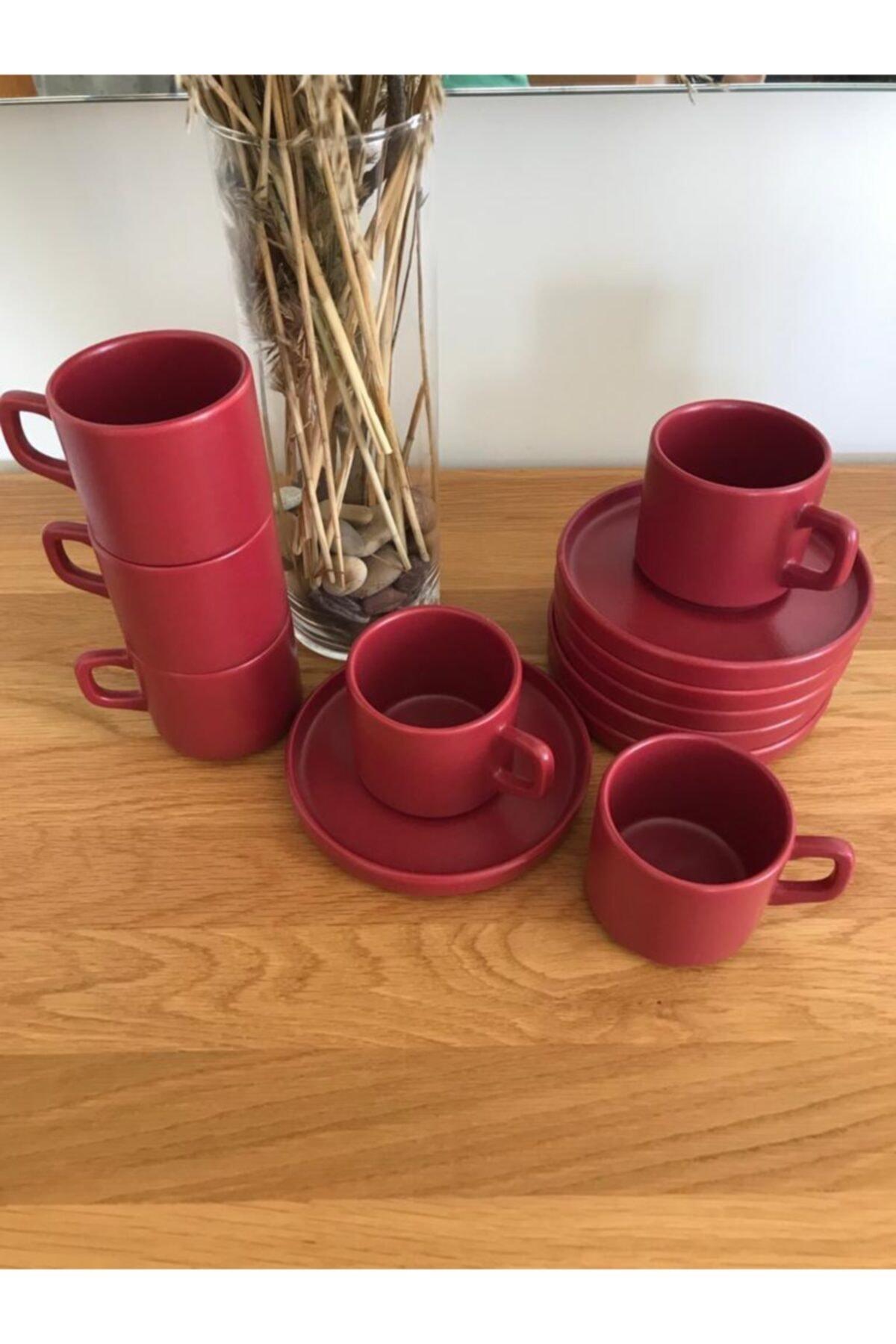 Keramika 6 Kişilik Stackable Carmen Fincan Takımı 12 Parça 2