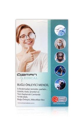 Özman Medical 100 Kullanımlık Buğu Önleyici Mendil (GÖZLÜK, KASK, ŞNORKEL VE CAMLI YÜZEYLER İÇİN)